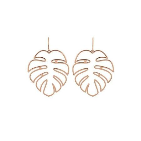 78bad770c Simple Design Big Leaf Earrings Vintage Gold Hollow Feather Shaped Stud  Earrings for Women Bohemia Punk
