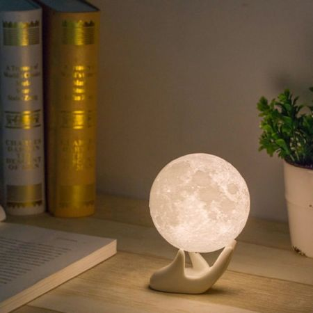 For Apollo Box Lunar Moon Night Light Lamp Smart Touch Control Rechargeable Globe With Multi Colors Led Lights Bedrooms