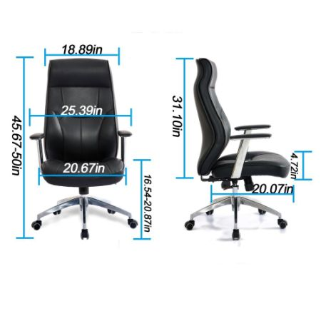 shop for high back leather office chair adjustable angle recline