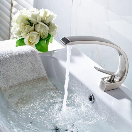 Shop for FLG Modern Solid Brass Single Handle Bathroom Sink Faucet ...