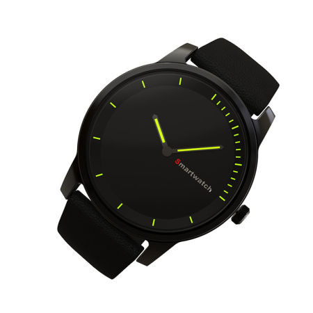 ILepo C20 Quartz Watch with Fitness Tracker Function Bluetooth 4.0 Waterproof IP68 for Android 4.3/IOS 7.0 and Above No Need Charging (Black)