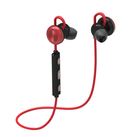 Bluetooth Earbuds Slim Wireless Headphones, Bluetooth 4.1 Lightweight Stereo Earbuds with Magnetic Connection, NANO Coating Sweatproof Sports Headset & Built-in Mic