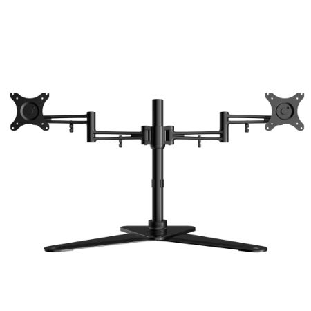 Loctek Df2d Full Motion Free Standing Dual Monitor Arm Desk Mounts Fits Most 10 27