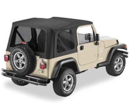 Soft Top With Tinted Windows For Jeep Wrangler Tj 2 Doors 1997 2006 No Door