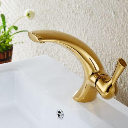 Shop For Flg Gold Finish Single Hole Single Handle Bathroom Vanity