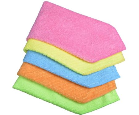 Sinland Household Multi Purpose Microfiber Cleaning Cloths Kitchen Cloth With Stripe Size 12inchx12inch