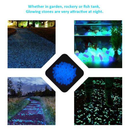 Shop For 200pcs Glow In The Dark Stones Garden Pebbles Rocks For Outdoor Walkway Yard Grass
