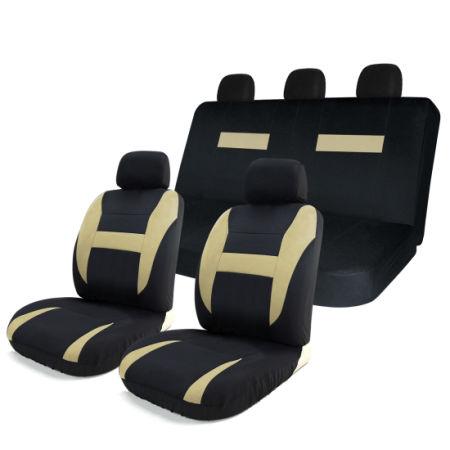 shop for 8pcs car seat covers set black tan universal airbag