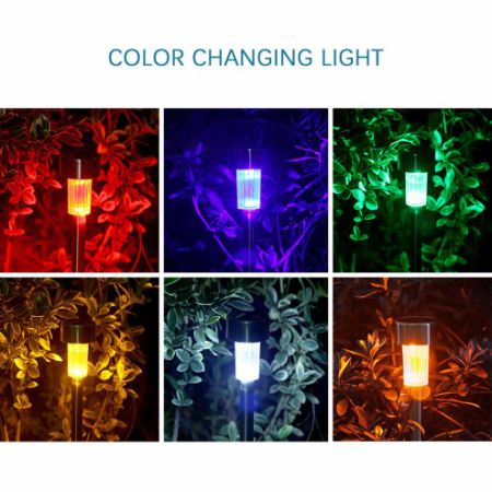 color changing solar garden lights. 12 Packs Color Changing Solar Garden Lights / Path Lights, GIGALUMI Stainless Steel Led Pathway O