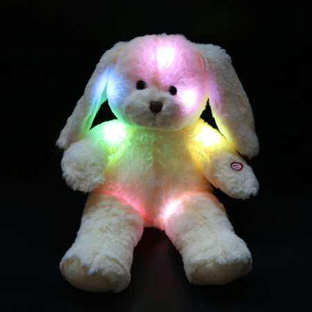 Floppy Long Eared Easter Stuffed Bunny Rabbit Stuffed Animals with LED  Light Night 503be5a64