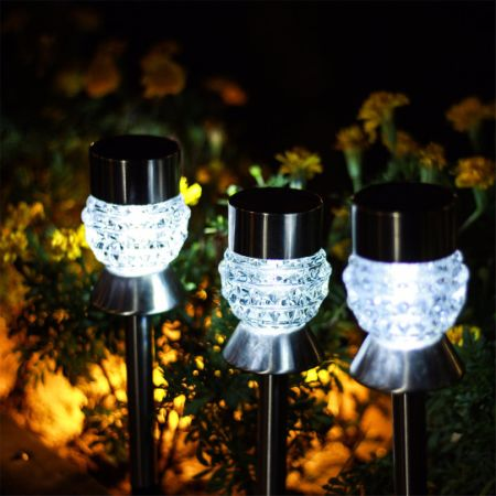 Shop for gigalumi solar lights outdoor garden led light landscape gigalumi solar lights outdoor garden led light landscape pathway lights stainless steel 6 packs aloadofball Image collections