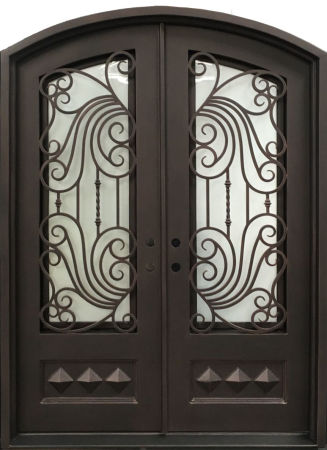 Shop For Lion Iron French Double Entry Doors For Villa Square Top