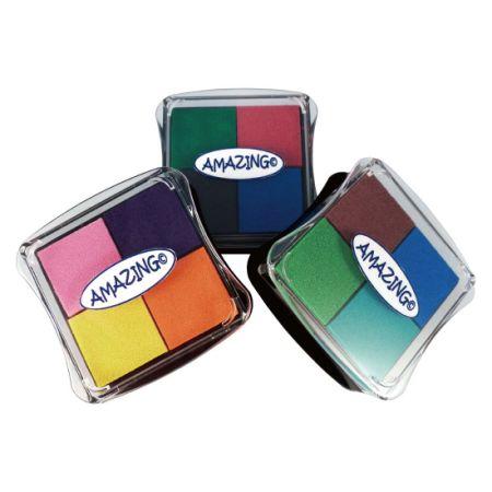 Best Stamp Fingerprint Craft Pad Ink Partner DIY Color 12 For