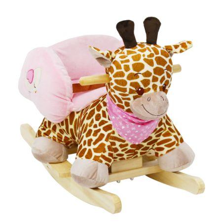 Merveilleux Kinbor Kids Rocking Animal Ride On Rocking Plush Giraffe Theme Chair With  Sound