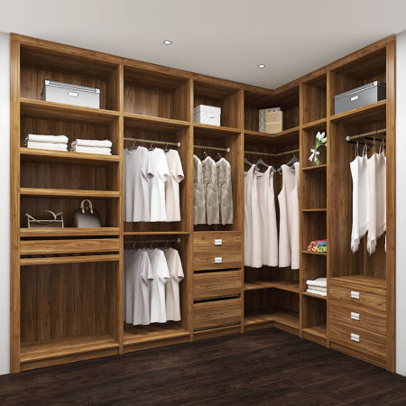 Simple With No Door Walk In Closet Dress Closet Wardrobes YG16 M07