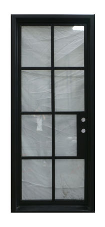 Simple Single Iron Door With Square Top, Left Hand Inswing, 40X96,2X6 Jamb