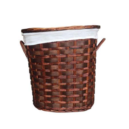 Superior SANJET, Willow Laundry Storage Baskets With Lid Hamper Handmade Woven  Wickeru0026Cattail Oval Closet Organizer (