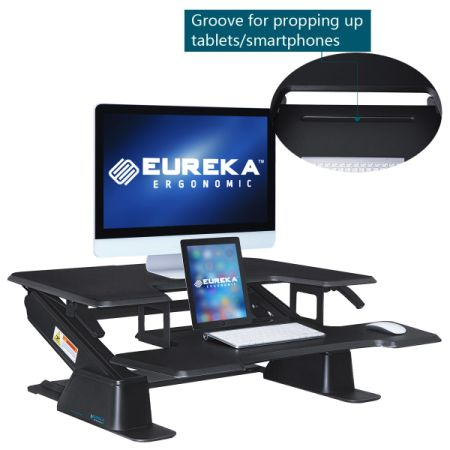 [Free Shipping] Eureka Ergonomic Height-Adjustable Standing Desk, 36-Inch Wide, Black