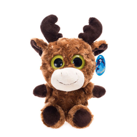super cute plush toy big eyes milu deer with velvet antler bright color stuffed animals for - Christmas Stuffed Animals
