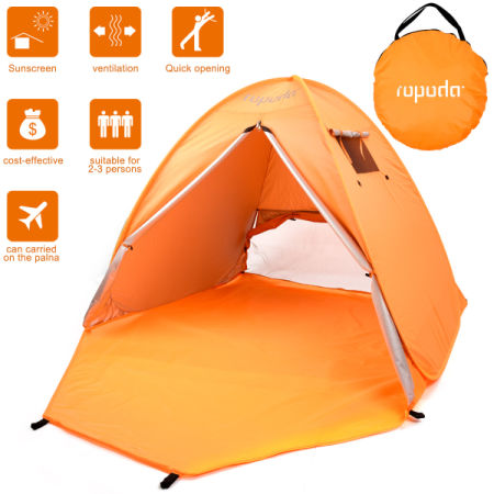 Ropoda Beach Tent Portable Pop Up Sun Shelter Automatic Instant Family Uv 2