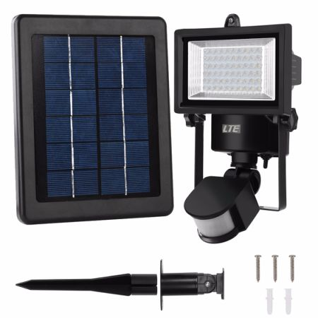 Shop for security light lte 60 led solar motion sensor light 6000k security light lte 60 led solar motion sensor light 6000k ip65 300 workwithnaturefo