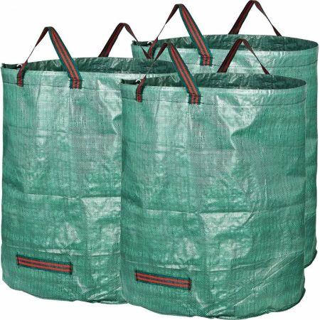 3 Pack 72 Gallons Garden Bag Reuseable Heavy Duty Gardening Bags Lawn Pool