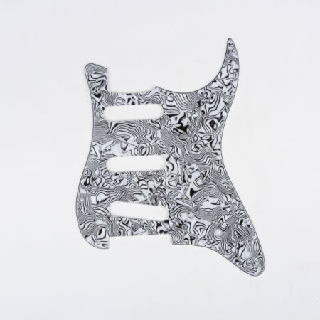 shop for musiclily sss 11 holes strat electric guitar pickguard for fender us mexico made. Black Bedroom Furniture Sets. Home Design Ideas