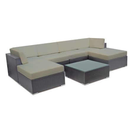 Shop for Patio Wicker Sofa Set Outdoor Sectional Furniture Lounge ...