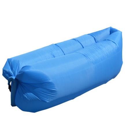 Inflatable Lounger Portable Air Beds Sleeping Sofa Couch Blue