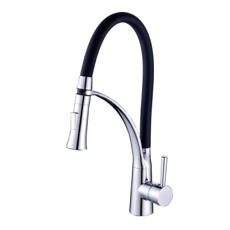 flg single handle pull out kitchen faucet black hose water tapchrome - Pull Out Kitchen Faucet