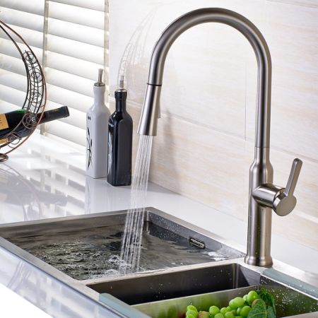 Shop for FLG Commericial Single Lever Pull Out Kitchen Sink Faucet ...