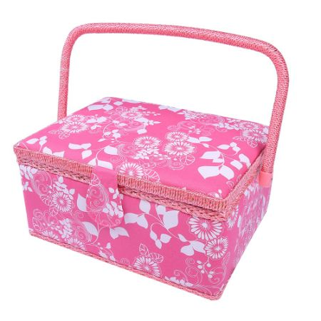 Multifunction Sewing Storage Basket With Kit Accessories Home Decoration Art Craft Luxury Gift