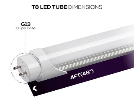 Shop for t8 led tube 3ft light 12w 35w equiv ballast for Tube led garage