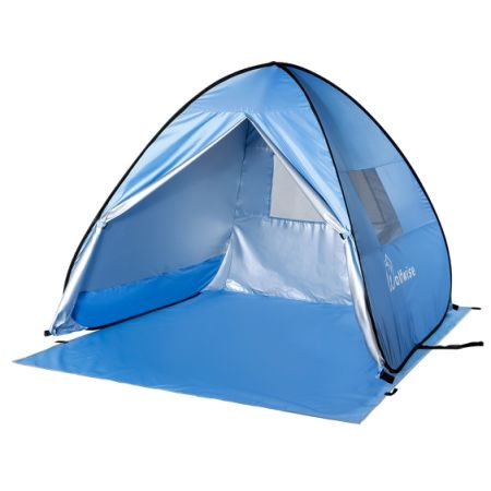 WolfWise Portable UPF 50+ Protection Easy Pop Up Beach Tent Instant Sun Shelter Tent Blue  sc 1 st  CROV.com : easy pop up beach tent - memphite.com