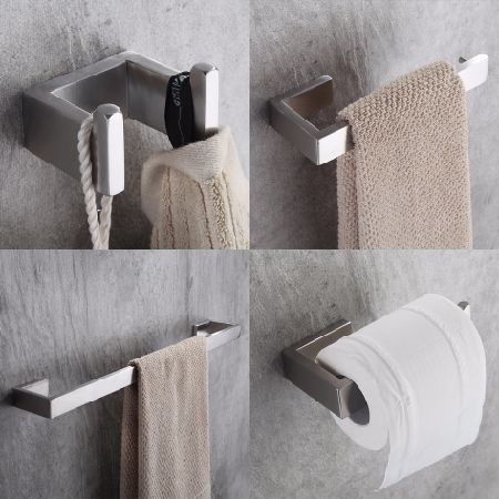 Shop For Stainless Steel Nickel Brushed Wall Mount Bath Hardware - Wholesale bathroom hardware
