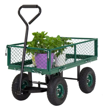 Kinbor Garden Cart Utility Yard Wagon With Removable Sides With A Capacity  Of 650 Lb,
