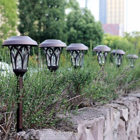 GIGALUMI Solar Pathway Lights Outdoor, 6 PCS Super Bright High LUMEN Solar  Powered LED Garden
