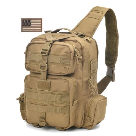 J Carp Tactical Sling Bag Pack Military Rover Shoulder Backpack Molle Assault Range