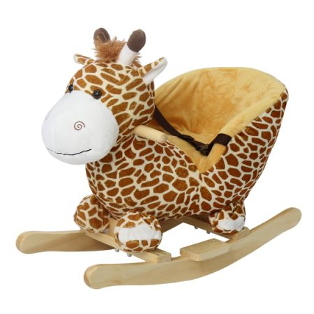 Delicieux Kinbor Kids Plush Rocking Horse Style Giraffe Theme Chair With Sound