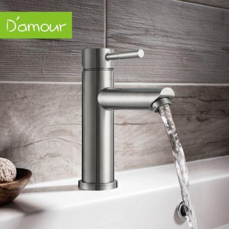Shop For D 39 Amour Bathroom Faucet Lavatory Single Handle Brushed Nickel Bathroom Sink Faucet