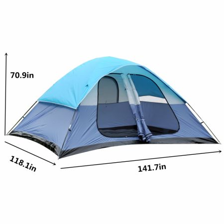 6 8 Person Super Large Family Camping Tent 3 Season Lightweight Backpacking Traveling