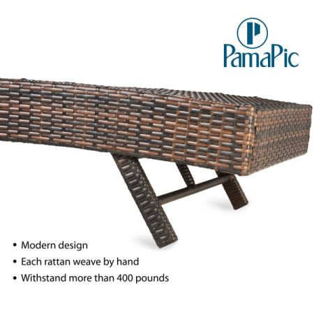 Shop for 3 PCS Outdoor Patio Chaise Lounge Chair Set, PamaPic PE ...