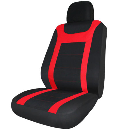 17pc Car Seat Covers Universal Red Black W Steering Wheel Cover For Belt Pads