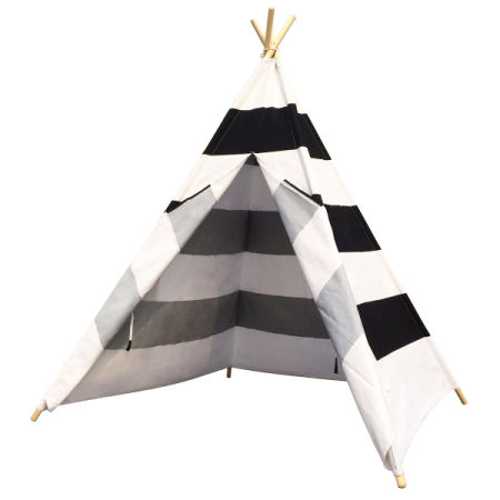 Cotton Canvas Black and White Stripes Indoor Play Tent Kids Indian Teepee Tent  sc 1 st  Crov.com & Shop for Cotton Canvas Black and White Stripes Indoor Play Tent ...