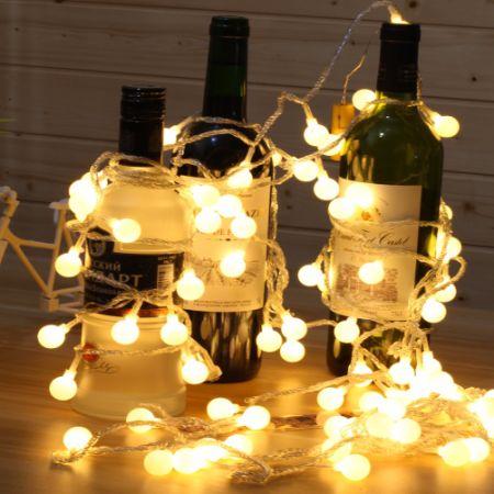 shop for 100 led globe string lights 33ft 10m 31v low voltage safety cherry ball fairy light. Black Bedroom Furniture Sets. Home Design Ideas