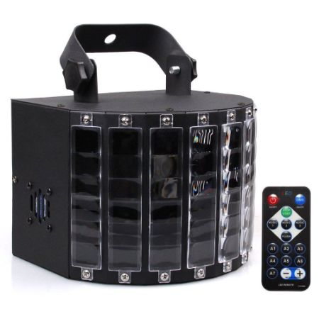 Dj Lights With 27 Watts 9leds Multicolor Wide Beams By Remote And Dmx Control
