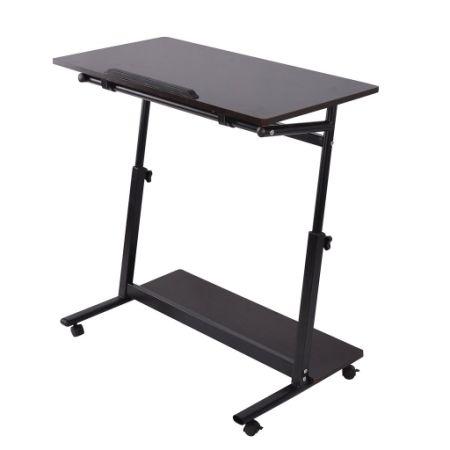 Shop For Qwork Laptop Desk Cart With 5 Flip Top Panel