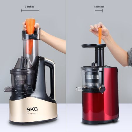 Anti Oxidative Slow Masticating Juicer : Shop for SKG Wide Chute Anti-Oxidation Slow Masticating Juicer Lower Noisy(240W AC Motor, 43 ...