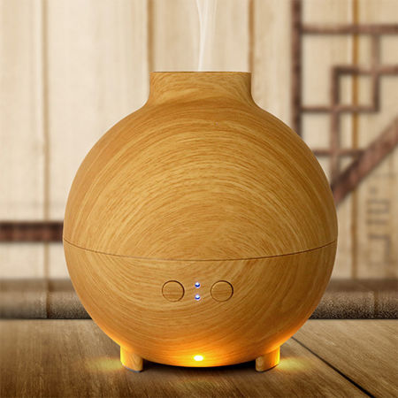 Aromacare 600mL Wood Grian Ultrasonic Aroma Diffuser Aromatherapy Humidifier