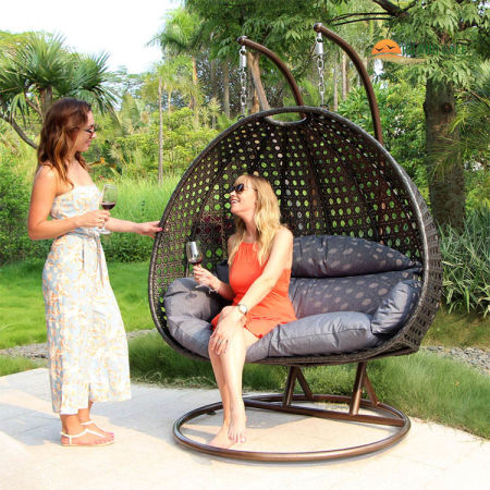 outdoor furniture porch swing chair double hammock 2 person hanging chair stand shop for outdoor furniture porch swing chair double hammock 2      rh   crov